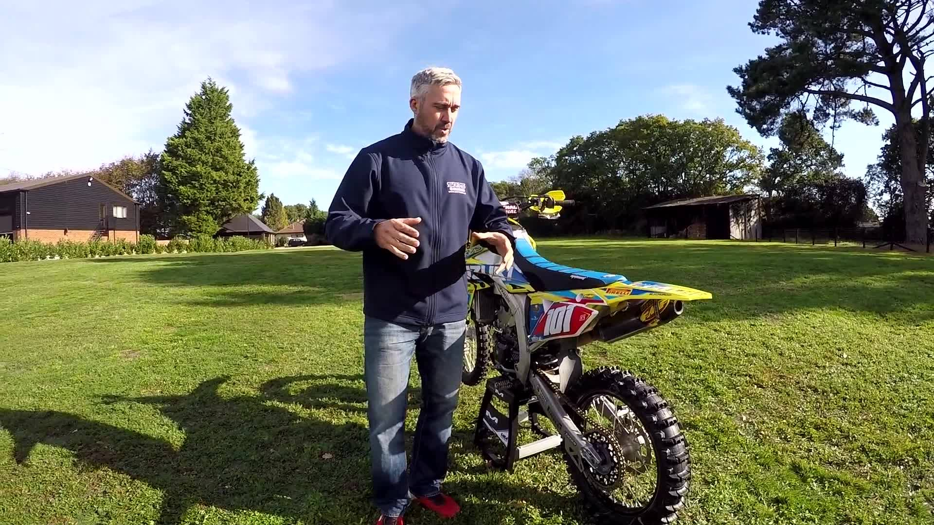 DAVID KNIGHT RM-Z 450 SR75 SUZUKI BIKE CHECK.