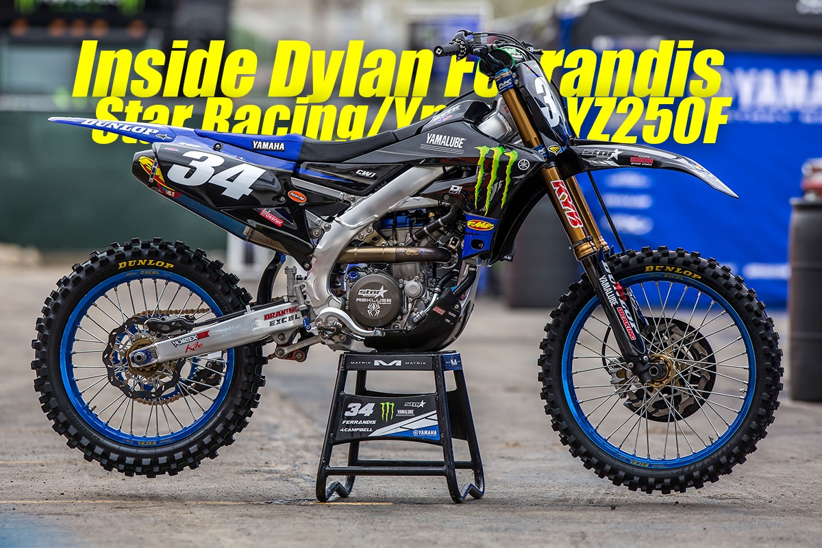 INSIDE DYLAN FERRANDIS'S STAR RACING YAMAHA YZ250F | Dirt Bike Magazine