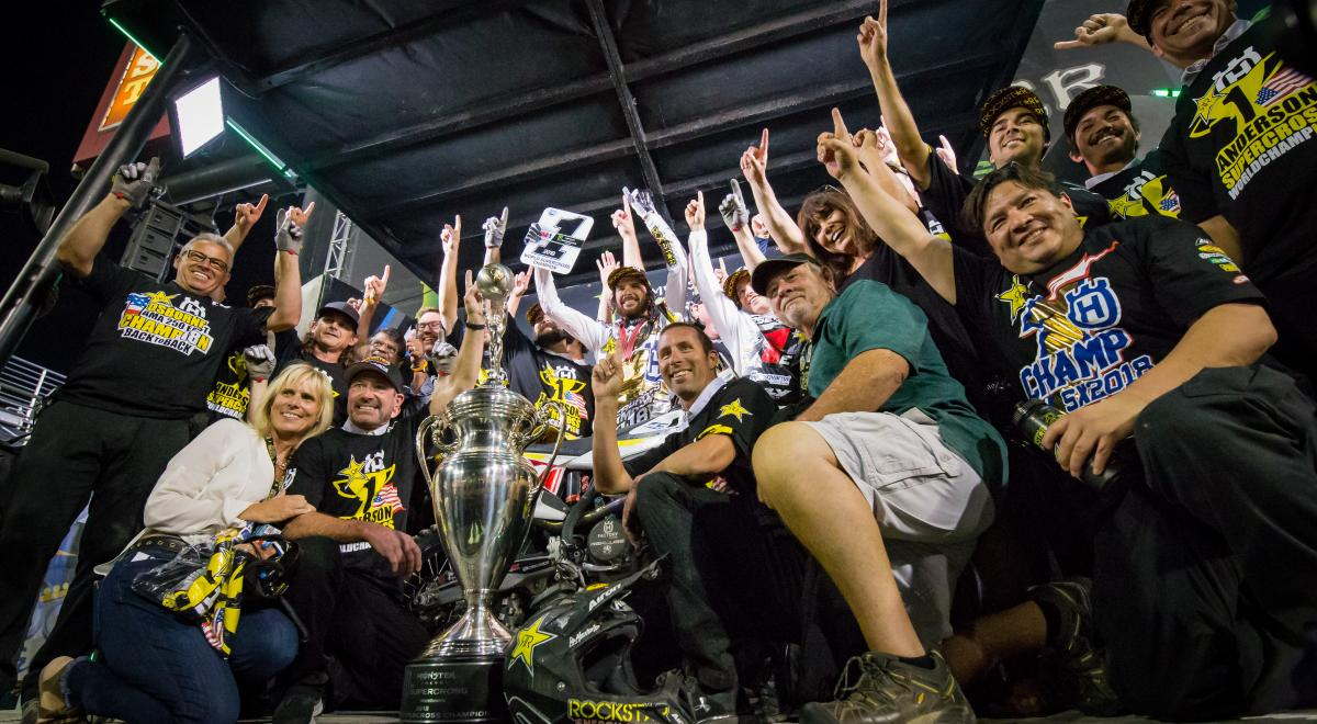 ARTICLE: Anderson Wins 2018 Monster Energy Supercross Championship!